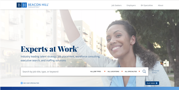 Beacon Hill Staffing Group website