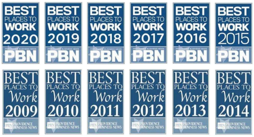 PBN Best Place to Work awards 2009 - 2020
